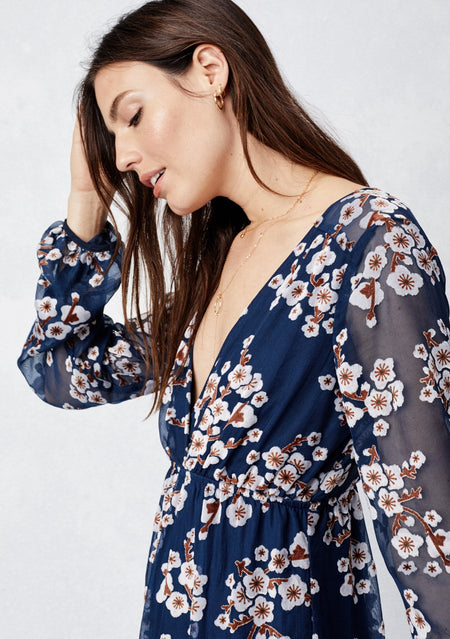 Lace-Up Floral Top