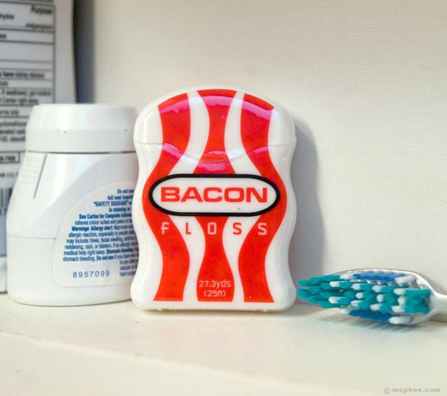 Bacon Flavored Dental Floss