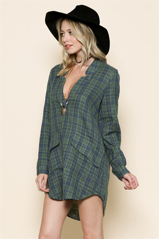 Flannel Tunic Dress