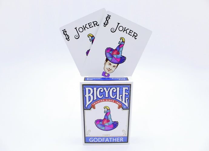 Modified Blue Fairy Godfather Bicycle Playing Cards