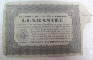 RARE 1931 GILMORE GASOLINE TRADE CARD......LOOK
