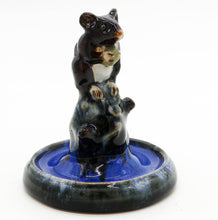 Doulton Lambeth Antique Art Pottery a rare Mouse Bibelot Ring Tree 2. C. 1920's