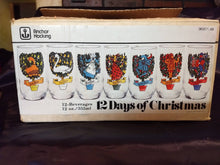 Anchor Hocking 12 days of Christmas Glasses