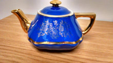 HALL BALTIMORE COBALT BLUE GOLD TRIM TEAPOT