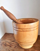 Antique Pharmacy Mortar and Pestle 1800s Greek Field Maple Turned Wood Apothecary Tool Primitive Kitchen Decor 19th Century European Greek Goddess Artemis Folk Art