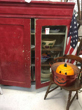 Primitive Red Cabinet