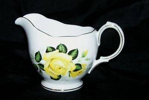 Gainsborough - Made In England - Yellow Rose Bone China Creamer