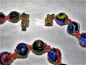 Murano 24 inch Millefiori Bead Necklace