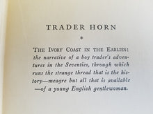 Trader Horn By Alfred Aloysius Horn