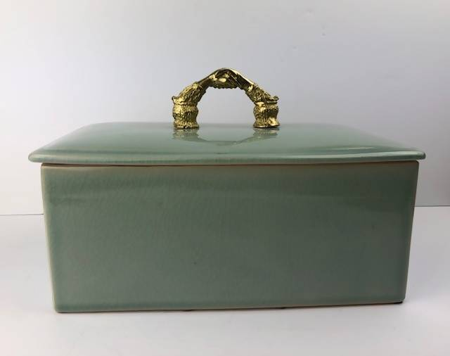 MAITLAND-SMITH DESIGNED & HAND MADE IN THAILAND CERAMIC LIDDED VANITY BOX