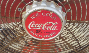 RARE 1940's - 1950's COCA COLA ADVERTISING FAN....LOOK