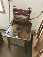 ANTIQUE WASHING MACHINE - POLISHED WOOD