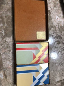1920's-30's DOUBLE DECK PLAYING CARD SET- AUCTION BRIDGE DECK w/ BOX