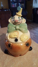 1959 Vintage W22 Clown Cookie Jar by Brush Pottery