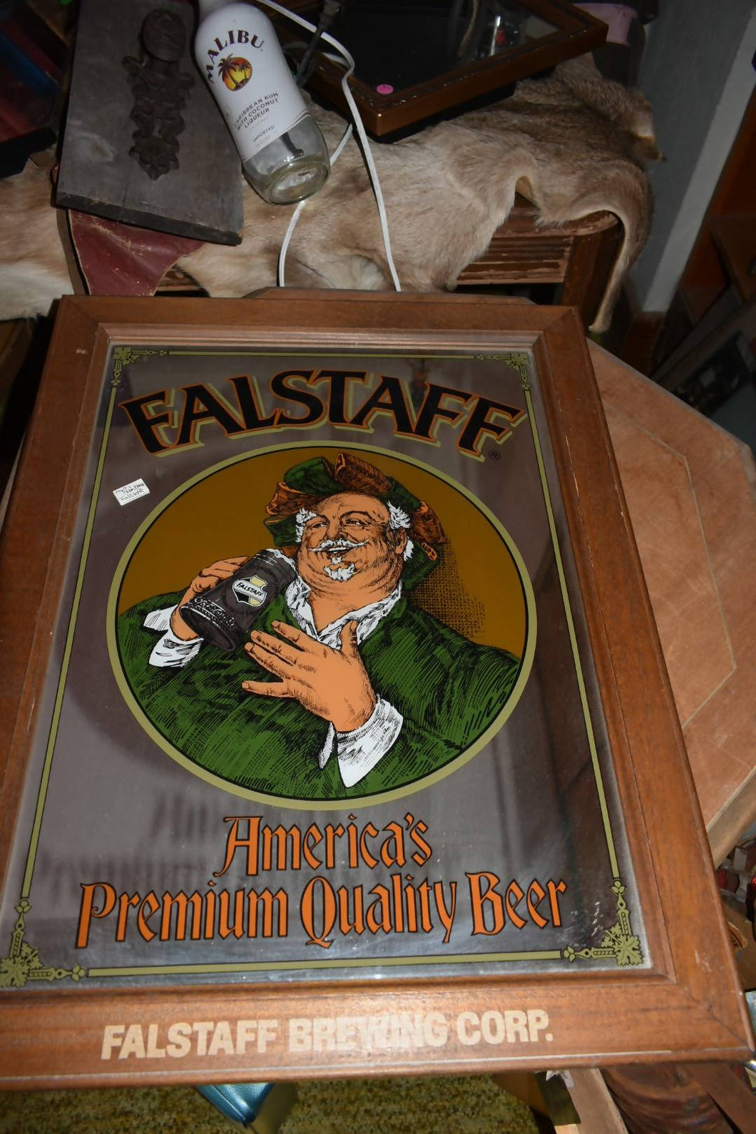 1960's Falstaff Brewing Co. Mirror