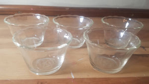 5pc. Anchor Hocking Fireking Custard DIshes