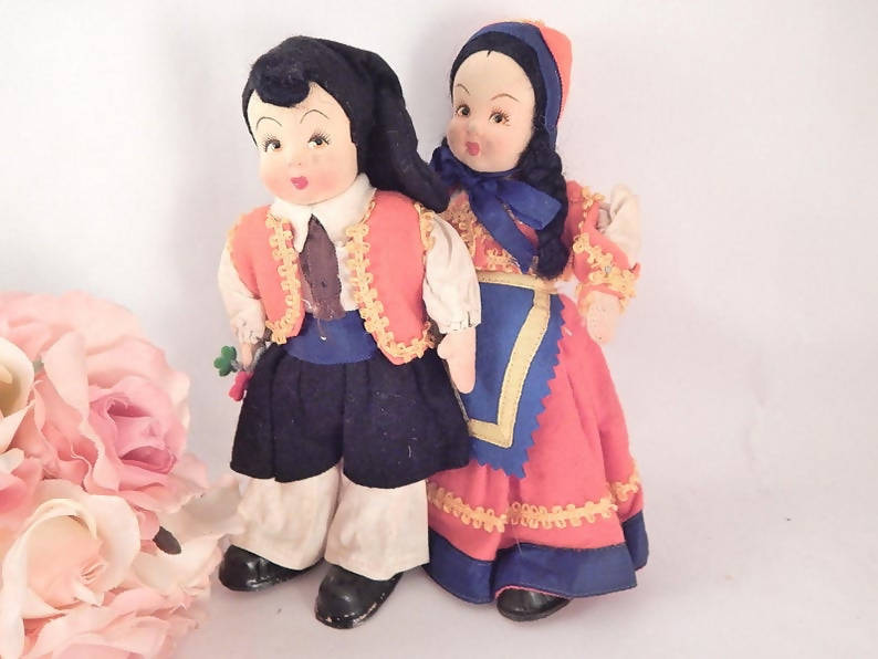 Boy and Girl Dolls Vintage 1930s 8