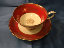 Hammersley & co. English Bone China TEA CUP & SAUCER Orange Cream & Gold