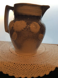 Stoneware Blue and White Pitcher
