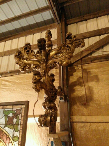Wood Carved Sconces