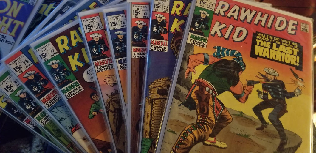 Rawhide Kid Lot of 9 Comic books