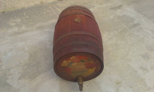 RARE 1920's WOODEN COCA COLA BARREL WITH SPOUT....LABEL STATES COCAINE REMOVED