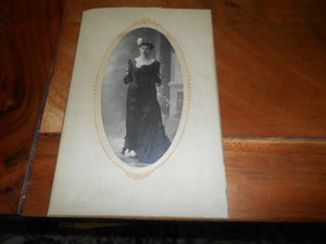 Early 1900's Cabinet Photo Stylish Woman in Formal Attire