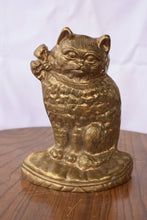 Brass Cat Door Stopper