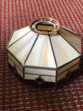 Leaded slag glass lamp shade