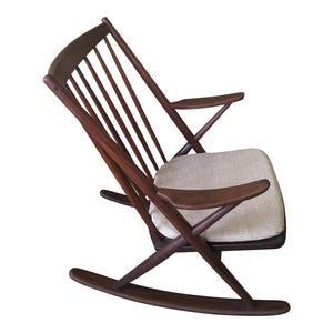 1960s Danish Modern Frank Reenskaug for Bramin Mobler Rocking Chair