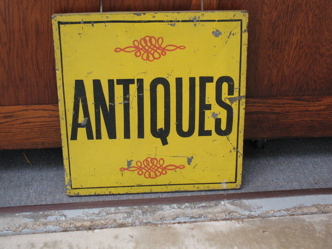 Antique Store Front Sign - Metal - Double sided with heavy hangers