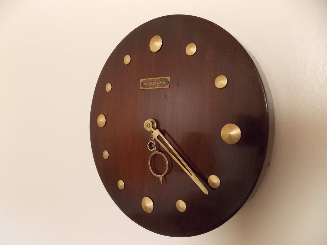 Rare Vintage Mastercrafters Wall Clock