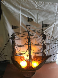 Mid Century Modern Hurricane Lamp Electric Lamp Ship