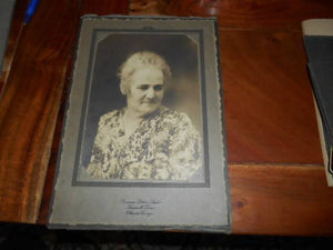 Early 1900's Cabinet Photo Stylish Elderly WOman- Branson Sisters Studio