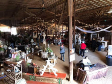 Vendor Space at the Tarheel Antiques Festival