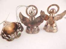 Angel Christmas Tree Ornaments Three Brass Angel Figurines Vintage 1960s Made in Hong Kong
