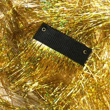 Gorgeous Gold Clip in hair sparkle extensions