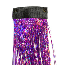Purple Clip in hair sparkle extension