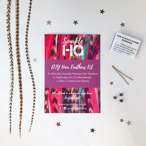 DIY Hair Feathers Kit Sparkle HQ