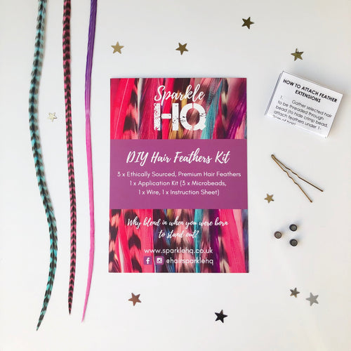 DIY Hair Feather Kit Sparkle HQ