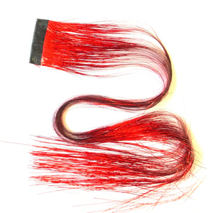 Flame Red Clip In Hair Sparkle Extensions