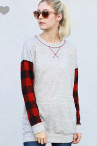 Long Sleeve Flannel Top
