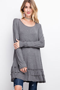Long Sleeve Ruffle Tunic