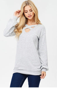 Criss-cross Front Sweater