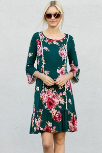 Lace Detail Floral Dress