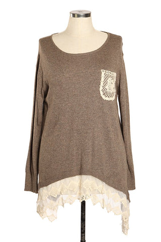 PLUS Lace Detail Top