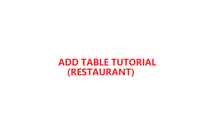How to add table in YMJ POS software (Restaurant)