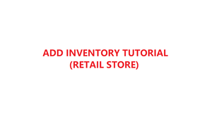 How to add and manage your inventory in YMJ POS software (Retail store)