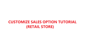 How to customize your sales option in YMJ POS software (Retail store)