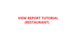 How to view daily report & summary report in YMJ POS software (Restaurant)
